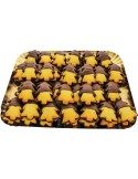 Small Trees of short pastry with chocolate icing tray 1500g