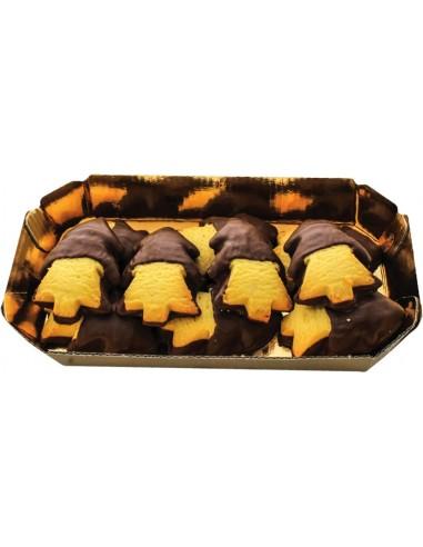 Arbrisseaux de pâte brisée avec glace au cacao