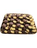 Bäumchen aus Mürbeteig mit Kakaoguss