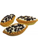 Boats with ivory cream and chocolate chips tray 1500g